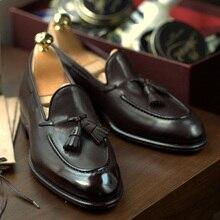 Мужские повседневные замшевые лоферы; Британский мех; кожаная обувь ручной работы; Модная Удобная дышащая мужская обувь