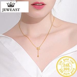 Image 3 - Btss 24K Puur Goud Ketting Real Au 999 Effen Gouden Ketting Mooie Upscale Trendy Classic Party Fine Jewelry Hot verkoop Nieuwe 2020