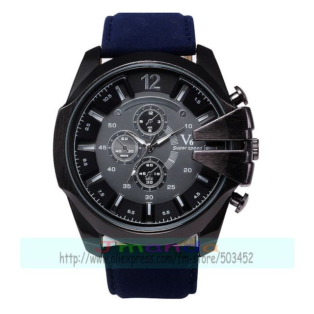 head leather mm men com watches pl speed watch amazon black dp police strap