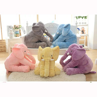 40 Cm Baby Crib Elephant Plush Toy 5 Colors Option Stuffed Elephant Pillow Newborn Cushion Doll