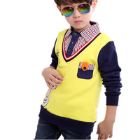 Spring Autumn Brand Boys Shirts Kids Clothes 1pc Infant Casual Baby Tops Tee Cotton Children Clothing Boy Blouse Shirt 2-13Y