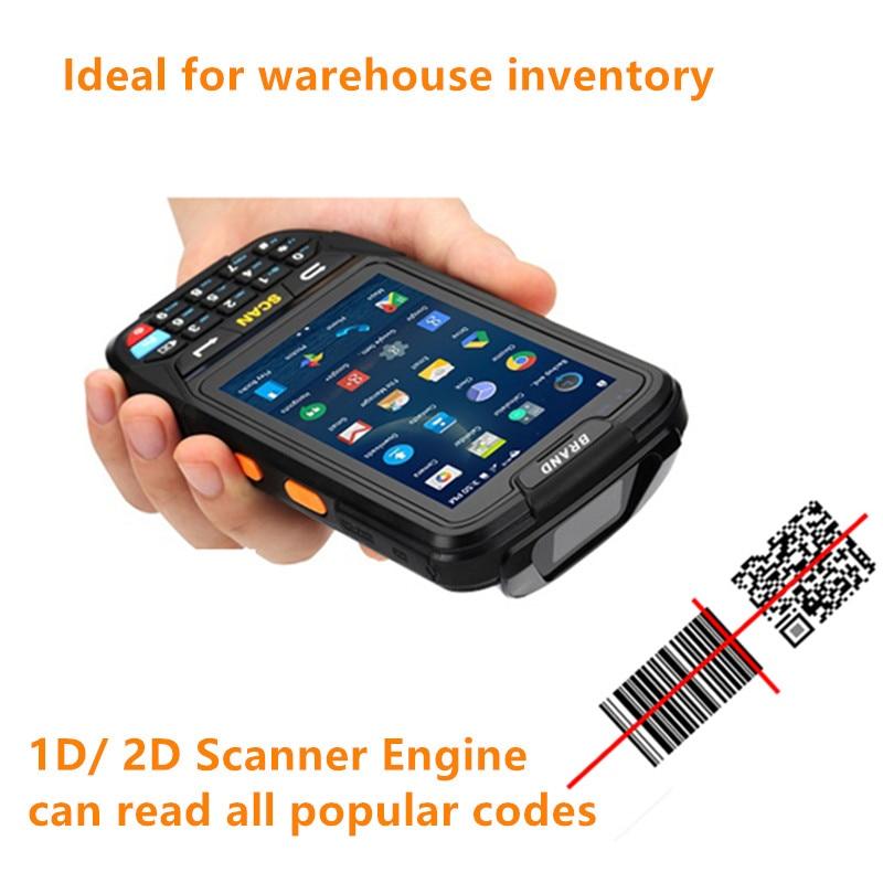 ברקוד סורק אנדרואיד נייד כף יד Bluetooth 1D 2D QR קוד קורא מחסן