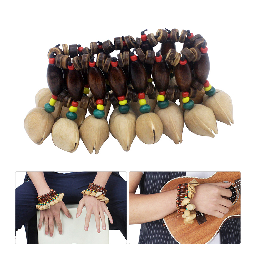 Percussion accessories for African drums Conga dance African drums handmade rattle nut shell Percussion accessories bracelet