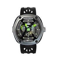 Reef Tiger/RT роскошные погружения спортивные часы светящийся циферблат нейлон/кожа/резиновый ремешок автоматический творческий дизайн часы