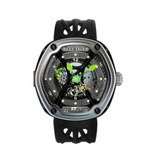 цена Reef Tiger/RT Fashion Sport Watch For Men Women Diver Luminous Watch Big Skeleton Dial Nylon Strap Automatic Watch RGA90S7 онлайн в 2017 году