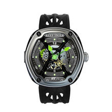 Reef Tiger/RT Luxury Dive Sport Watch Luminous Dial Nylon/Leather/Rubber Strap Automatic Creative Design Watch RGA90S7(China)