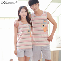 Hectometer Brand Cotton Home wear Cute Cartoon Summer Shorts Pajama sets Good Quality Sleepwear 1128 1130