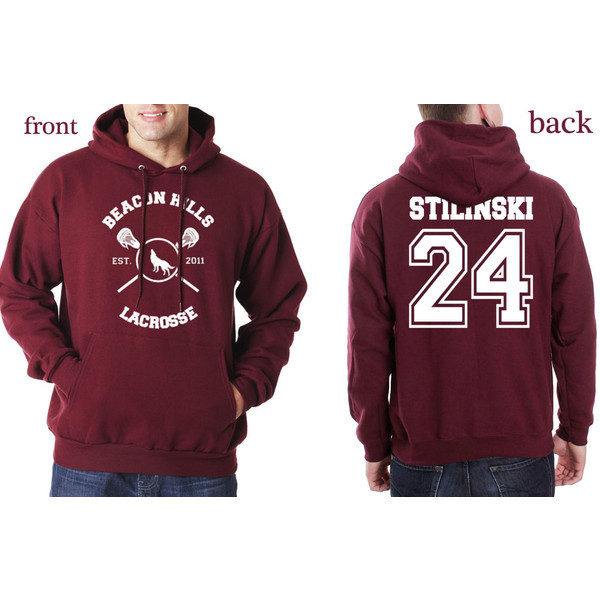 Beacon Hills Lacrosse Men/Womens Hoodies Wolf Stiles Stilinski Teen 24 Black Couples Hoodie Sweatshirt Hoody Pullover Size S-3XL
