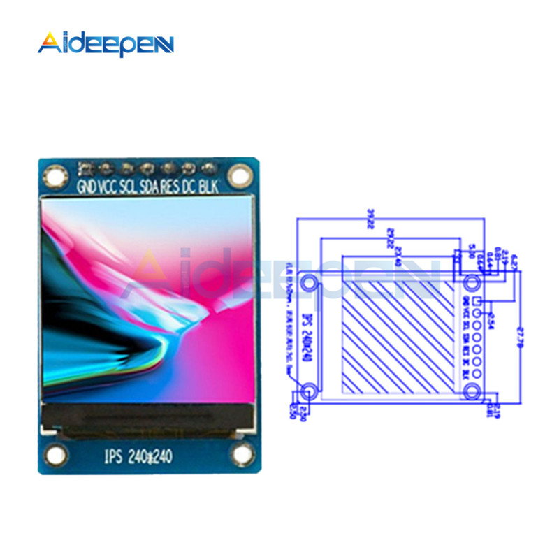 0.96/1.3/1.44/1.8 inch IPS TFT SPI LCD Full Color <font><b>Display</b></font> Module ST7735 / ST7789 Drive IC DIY Kit 80X160 <font><b>240X240</b></font> 128X128 128X160 image