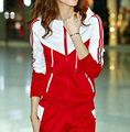 O envio gratuito de Novos conjuntos de mulheres grosso Hoodies Set Suit 2 pçs/set hoodies + calças sportswear mulheres ternos G0538