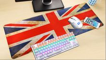 UK Flag Rubber XL Ultra Large Size 900*400 Anti-Slip Mouse Mats for PC Computer Laptop Notbook Gaming Mouse Pad Gaming Mat Red