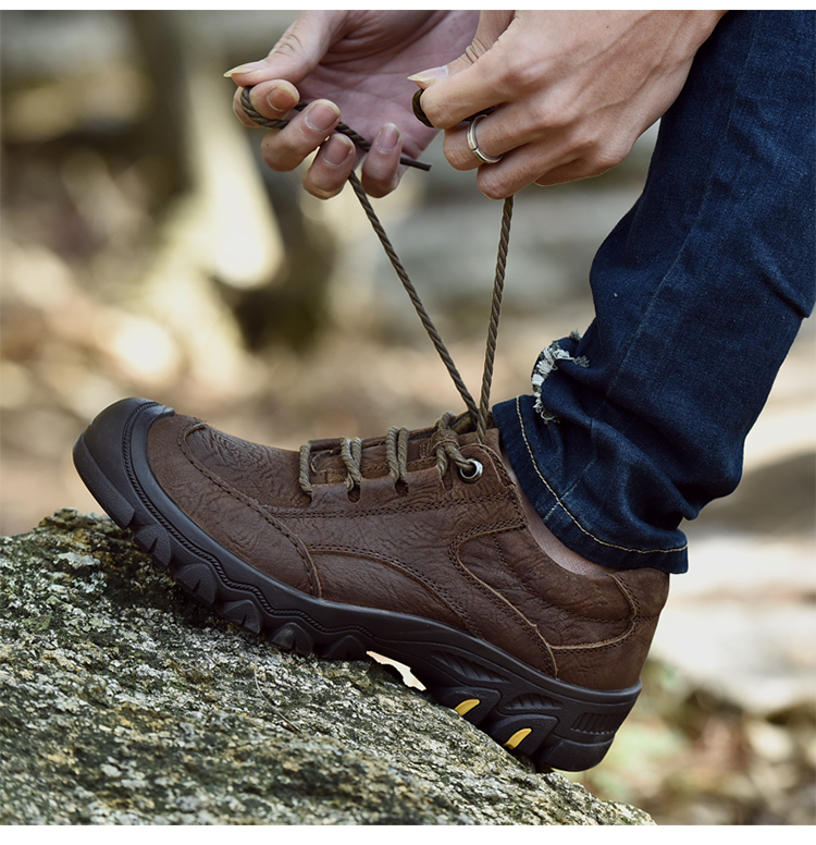 60f2b22058d ≧SocNoDn Men s Boot 2018 Spring Autumn Genuine Leather Casual Work ...