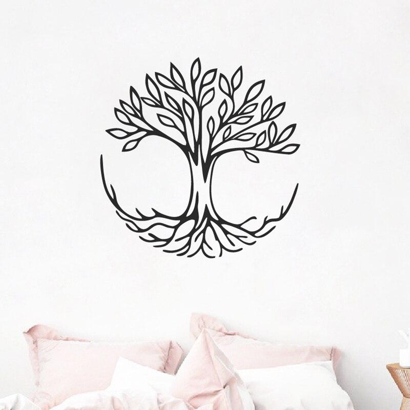 Drzewo życia Naklejki Ozdobne Na ścianę Symbol Połączenia Duchowa Joga Naklejka ścienna Do Domu Salon Fototapeta Artystyczna Dekoracja Naklejki ścienne Aliexpress