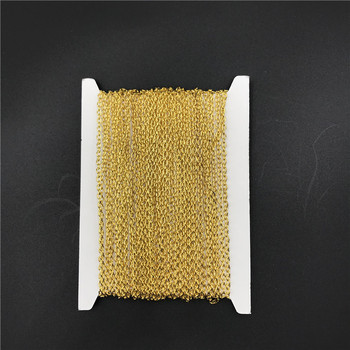 Iron Metal Chains Bulk Necklace Components Gold Silver Color Open Link Chain For Diy Jewelry Making 4