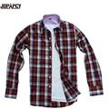 ГОРЯЧАЯ мужская мода новые марка 2017 весна дешевые плюс размер рубашки плед повседневная hombre camisa masculinas социальной восемь цветов