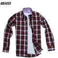HOT mens fashion brand new 2017 primavera barato más tamaño camisa a cuadros camisa casual hombre masculinas sociales ocho colores