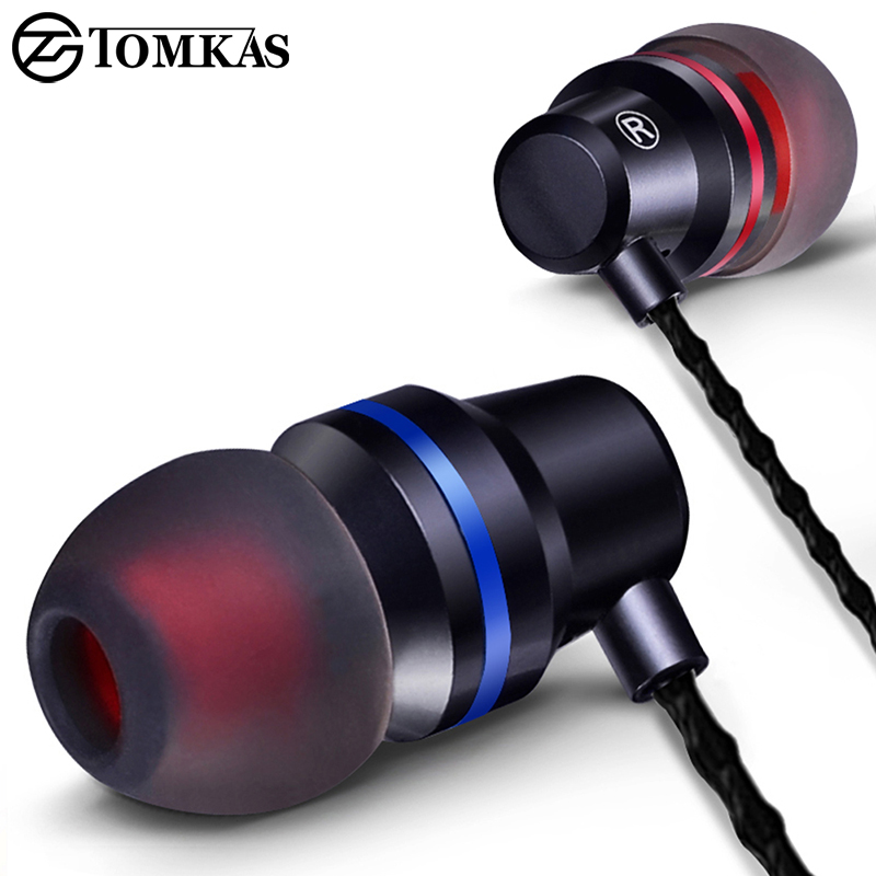 Earphones & Headphones Wired Earbuds Headphones 3.5mm In Ear Earphone Earpiece With Mic Stereo Headset 5 Color For Samsung Xiaomi Phone Computer
