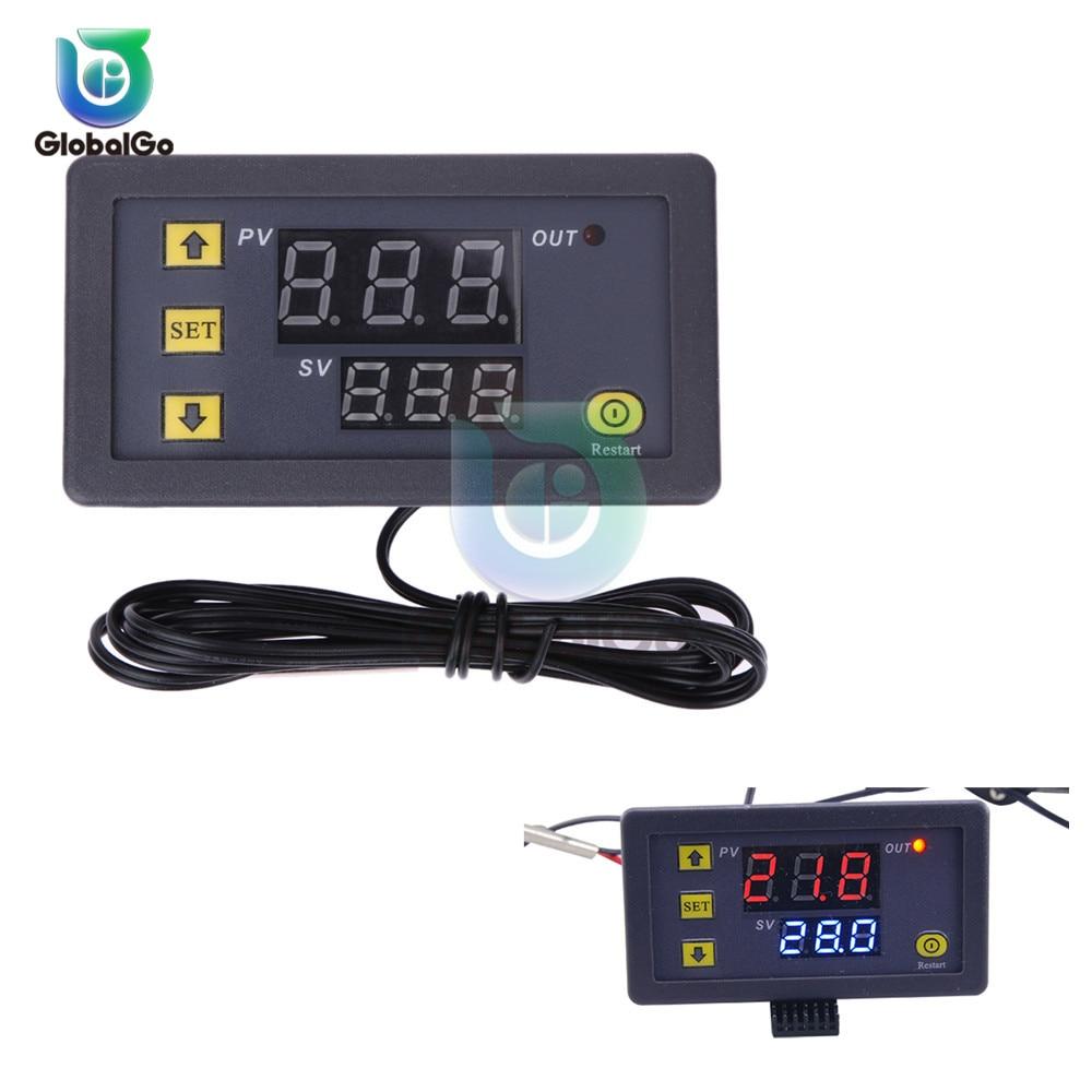 W3230 светодиодный цифровой термостат для контроля температуры AC/DC 12в AC 110в 220в 20A Мини светодиодный дисплей термостата водонепроницаемый зонд