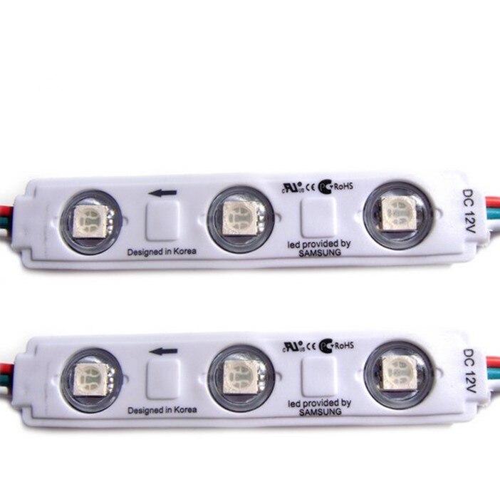 Светодиодный модуль WS2811 UCS1903 3 светодиодный DC12V светодиодный свет сада SMD5050 RGB Водонепроницаемый светодиодный пикселя цифровой модульная св