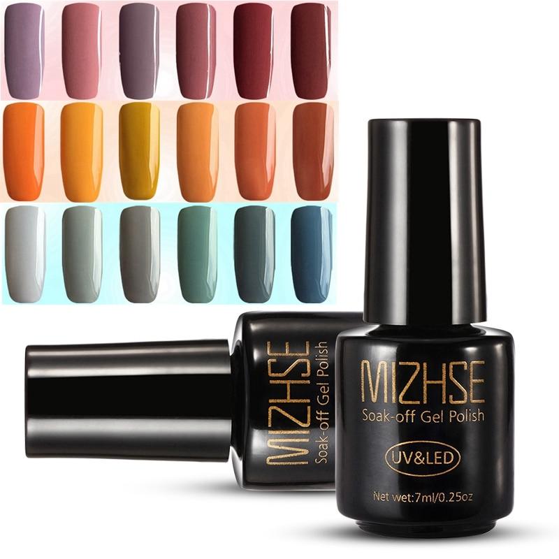 MIZHSE 7ML Color UV Gel Nail Polish LED UV Gel Nail Polish Sale Beauty Gel Lacquer