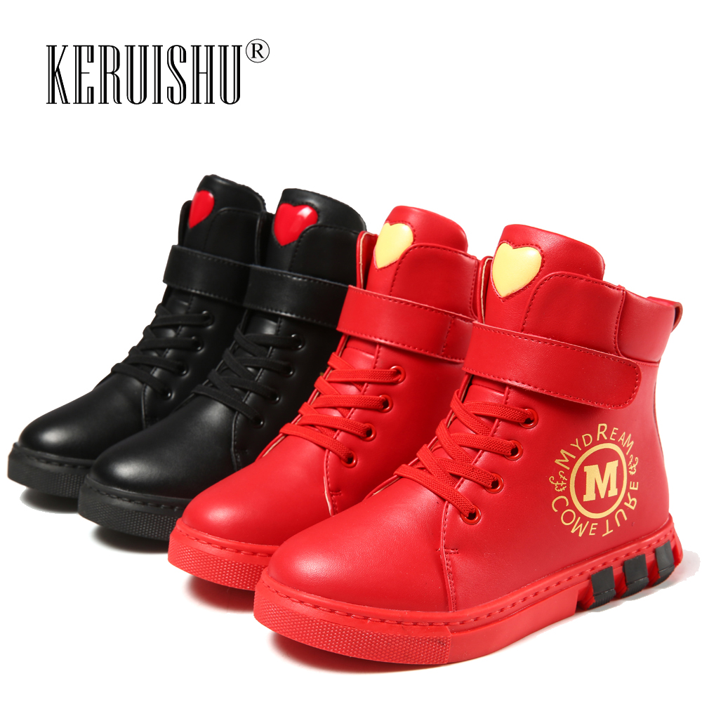 Girls boots 2018 autumn and winter new spring and autumn single boots children's shoes Martin boots girls boots small princess l 2014 new autumn and winter children s shoes ankle boots leather single boots bow princess boys and girls shoes y 451