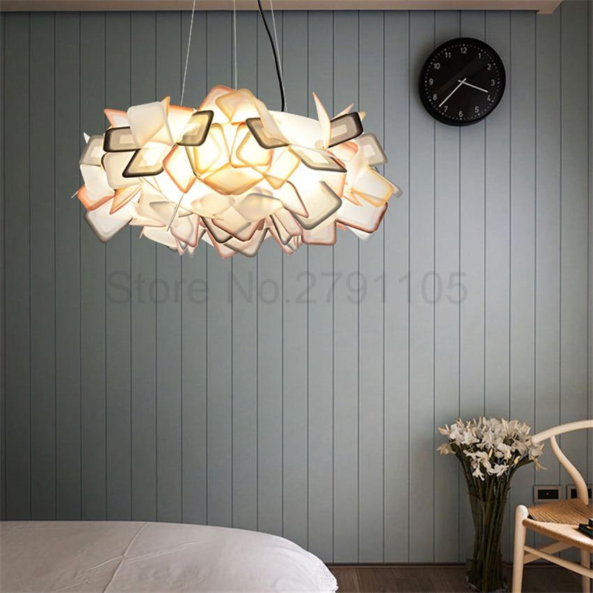Modern pendant lamp living room restaurant bedroom led for Minimalist bedroom lighting