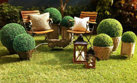 50cm diameter 6pcs/lot artificial plastic boxwood ball grass ball indoor & outdoor decoration