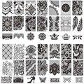 10 шт./лот новый кружева цветы корона штамп штамповка изображения пластина 6 * 12 см из нержавеющей стали шаблона трафарет инструменты