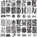 10Pcs/Lot New Lace Flowers Crown  Nail Art Stamp Stamping Image Plate 6*12 CM Stainless Steel Nail Template Stencil Tools