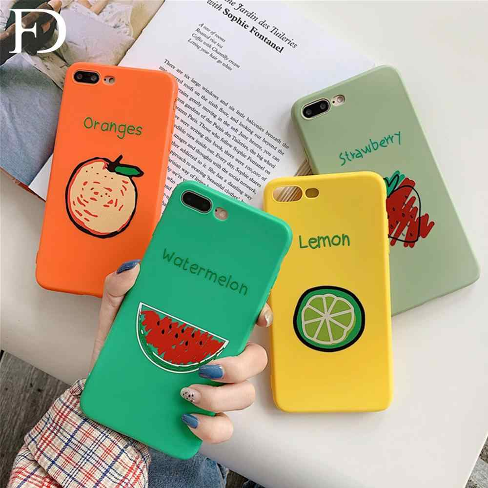 FD Simple And Lovely Fruit Soft TPU Phone Case X XS Max XR Case Cover Phone 7 8 6 6s Plus Case Phone 8 Plus Fashion Phone Case