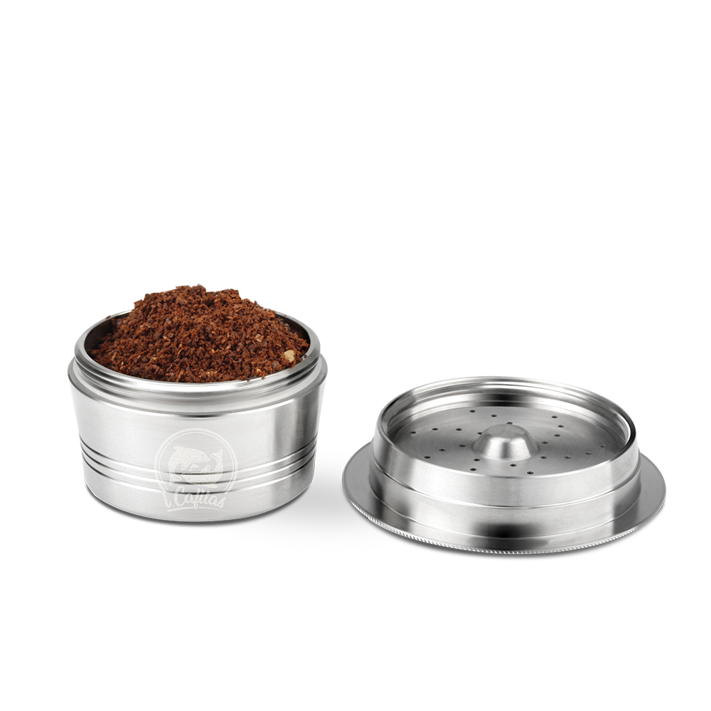 Cafissimo Stainless Steel Coffee Capsule Refillable Capsule tamper Reusable Coffee Pod For ALDI Expressi K-fee Filter Coffeeware