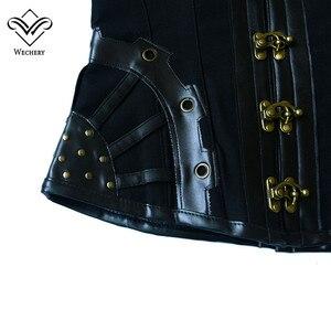 Image 5 - Корсет в стиле стимпанк, Готический кожаный корсет, корсаж, сексуальный корсаж, корсет, корсеты, стальной корсет, корсет, корсет