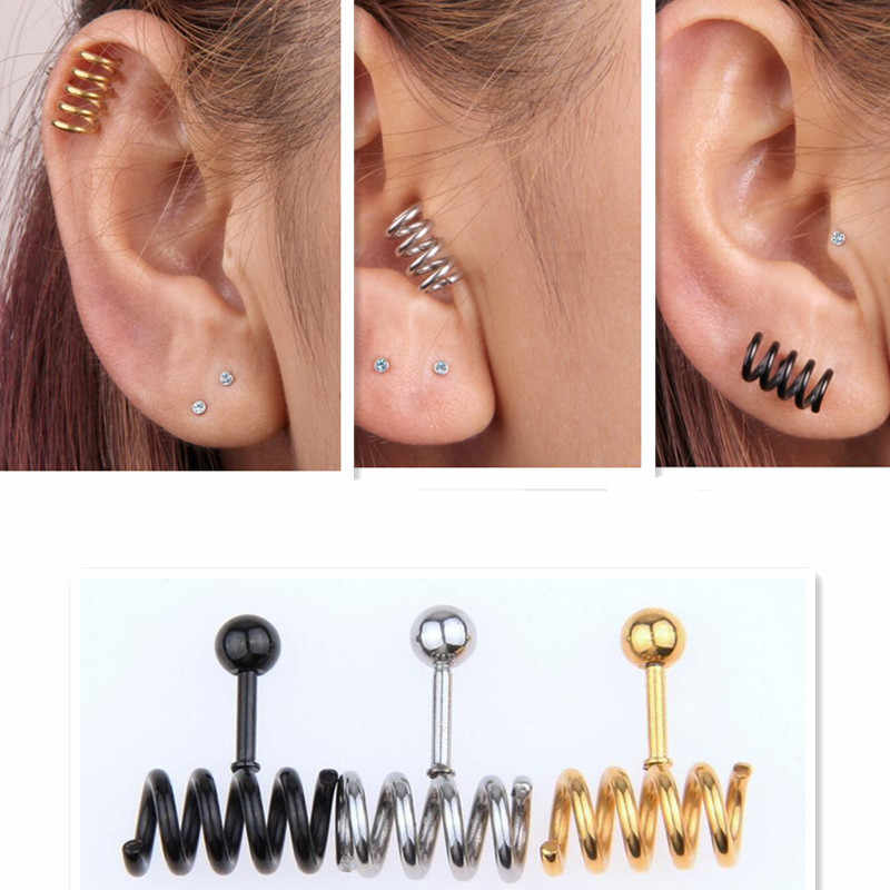 cd7c5aea9 New Stainless steel Prevent allergy Men Jewelry titanium girls HOT earrings  stud earring Spring ear nail