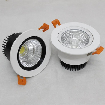 Wholesalep price Super 10W  15W Dimmable COB LED Ceiling Down Light Cool White Warm White Recessed COB LED Down Lamp  AC85-265V 7w dimmable cob led recessed cob downlights cob led ceiling lamp warm natural cold white white aluminum spot lamp ac85 265v