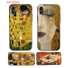 Gustav Klimt The Kiss art painting Soft silicone Case For