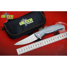 GREEN THORN F7 M390 blade Titanium handle Flipper folding knife Outdoor camping hunting pocke fruit knives EDC tools Survival