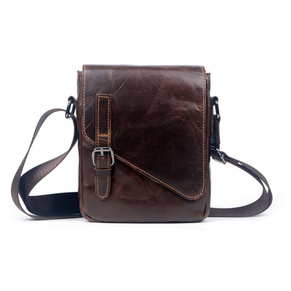 Men Oil Wax leather First layer Cowhide Cross Body Messenger Shoulder Pack Vintage Bag new top quality ladies fashion first layer cowhide handbag messenger shoulder pack cross body luxury trend bag wallet