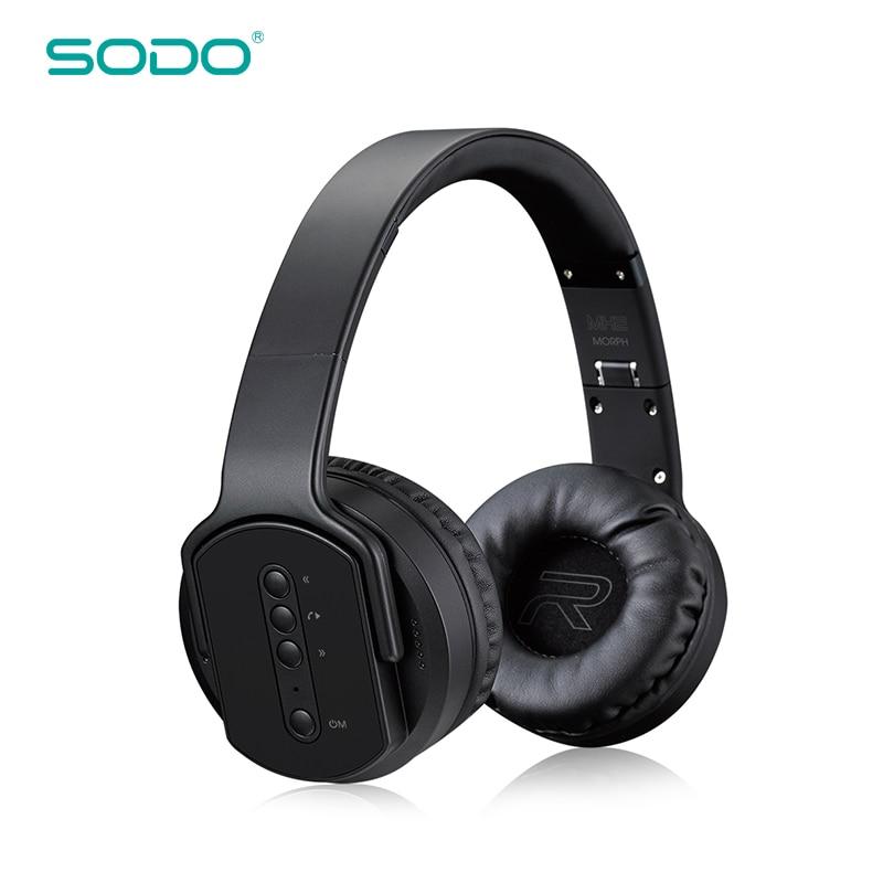 Sodo Mh5 Bluetooth Headphone Twist Out Speaker Bluetooth 4: Original SODO MH2 NFC Wireless Bluetooth Headphone Twist