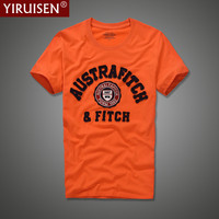 YiRuiSen Brand Clothing Men Short Sleeve T Shirt 100 Cotton O Neck Fashion Letter Patch T