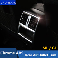 CNORICARC Rear Air Conditioning Outlet frame decoration cover trim for Mercedes Benz ML GL X166 320 350 400 Chrome ABS