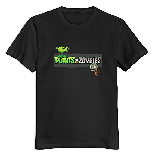 2017 Latest Fashion Plants Vs. Zombies Men T Shirts Casual Funny Cartoon tee shirt homme high quality top tees