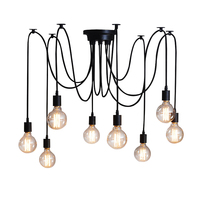 6 8 10 12 14 Nordic Retro Edison Bulb Pendant Chandelier Vintage Loft Antique Adjustable DIY