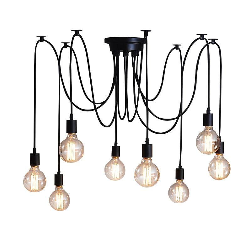 Vintage DIY Nordic Spider Hanglamp Meerdere Verstelbare Retro ...
