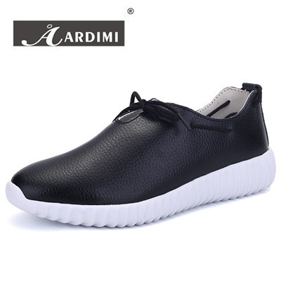 New 2016 genuine leather casual shoes women outdoors top quality solid designer women's trainers fashion walking shoes woman