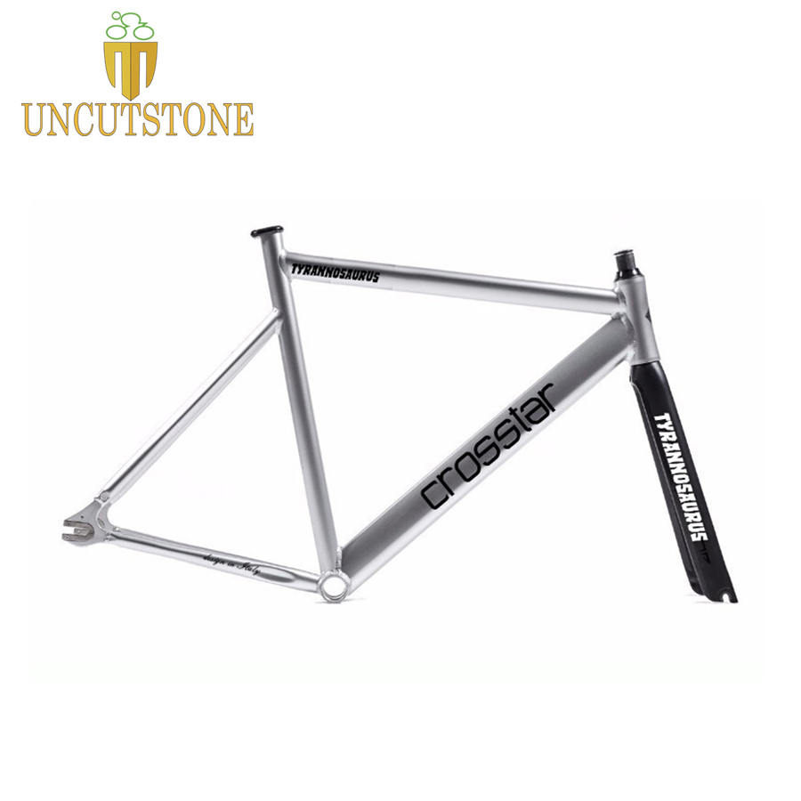 fixed gear bike frame 53cm 55cm 58cm TYRANS T2 FRAMESET TRACK fixie frame+carbon fiber fork frameset