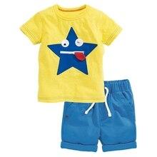 2017 Summer Children's Clothing Sets baby boy casual suit sets Kids clothing suit set cotton Maple leaves /cart T-shirt+shorts