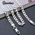 Collar al por mayor de 925 cadenas de plata esterlina del sólido 4mm 16-24 pulgadas hombres collares moda joyería X83