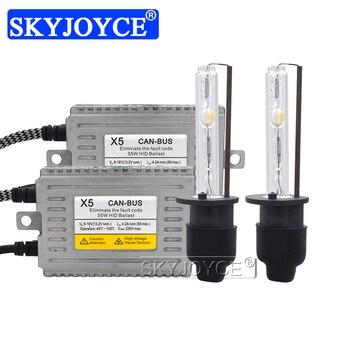 SKYJOYCE 12V 55W DLT X5B Canbus Ballast Kit Xenon H7 H1 H3 H11 HB3 HB4 D2H Cnlight Straight Bulb Error Free hid Xenon headlight