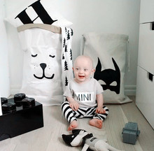 Canvas Baby Toys Storage Bags Batman Bear Pattern Laundry Bag Pouch,Kids Toys Drawstring Storage Bag Bedroom Art Deco Bags