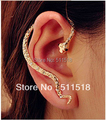 Gold Snake personalize exquisite Ear Cuff Earrings Hotsale Punk Earring Pierced Body Jewelry LM-C203
